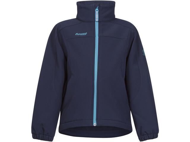 Bergans Reine Jacket Kinder navy/dark turquoise
